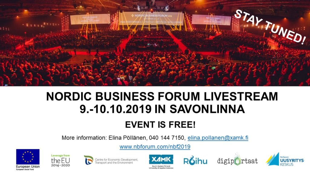 Nordic Business Forum 2019 – Livestream in Savonlinna