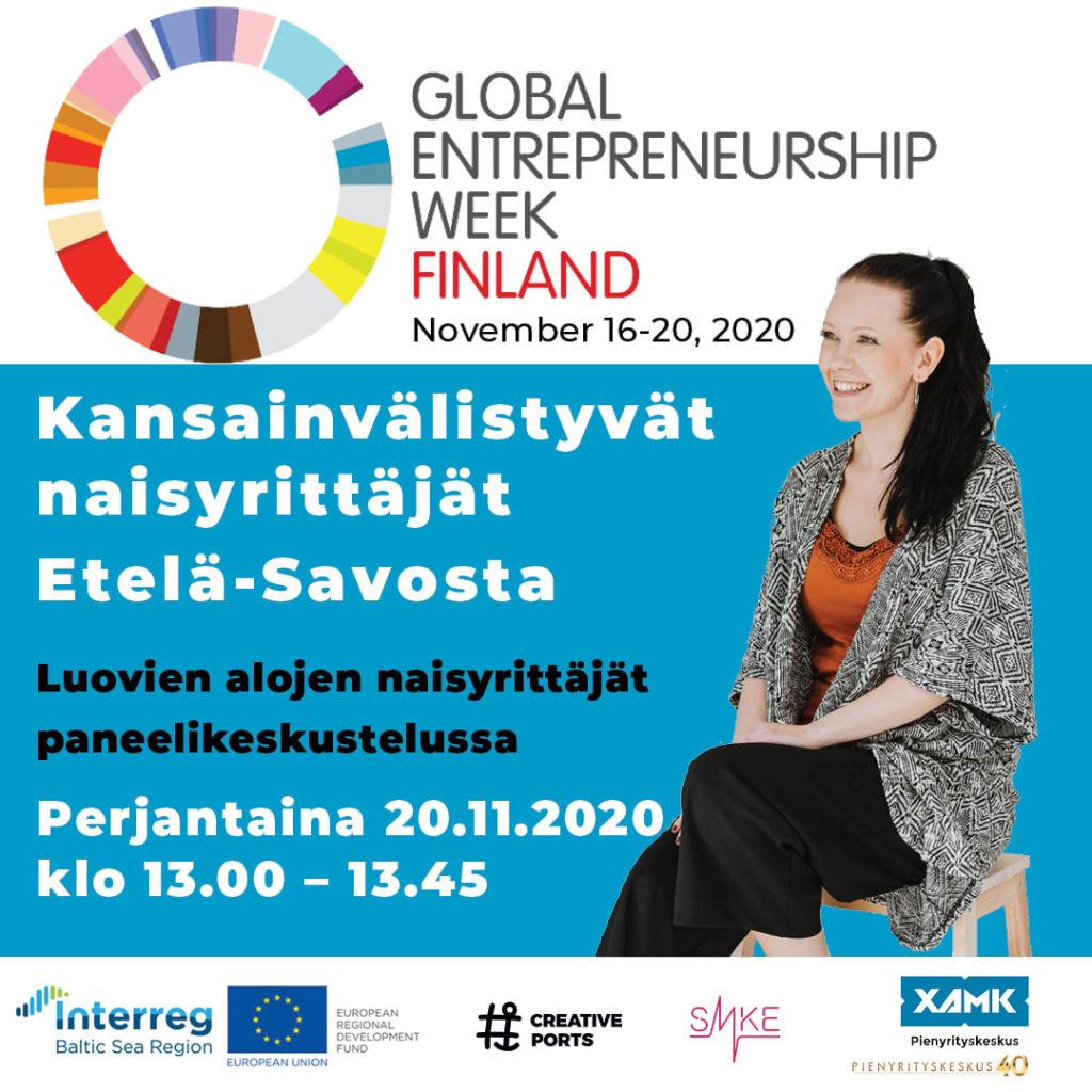 KANSAINVÄLINEN YRITTÄJYYSVIIKKO 16. – 20.11.2020