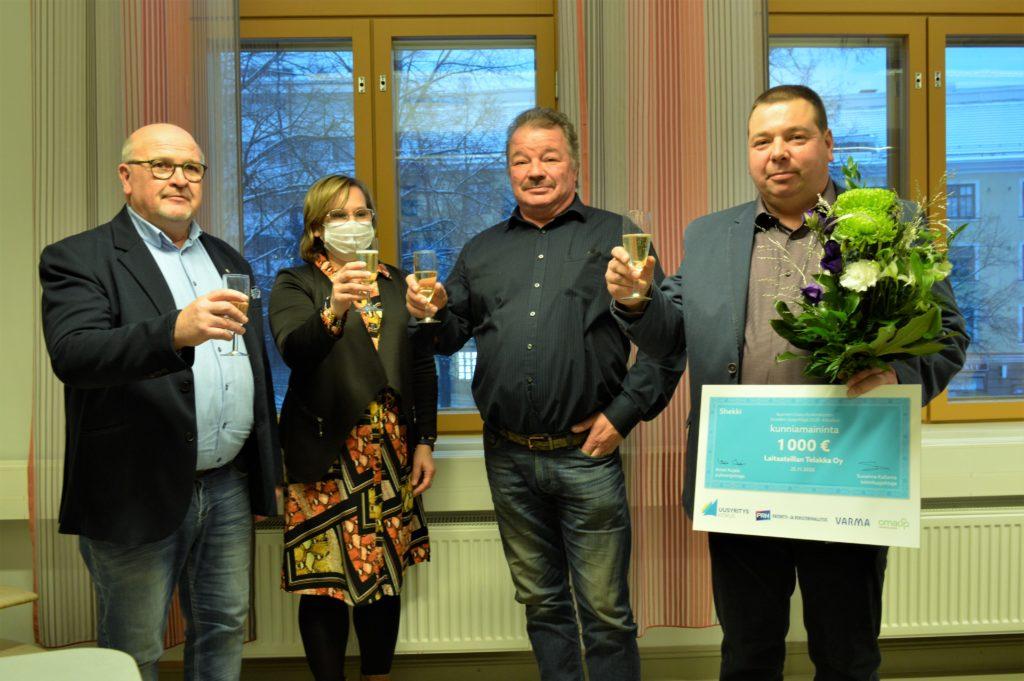 Laitaatsillan telakalle kunniamaininta Vuoden Uusyrittäjä 2020 -kilpailussa